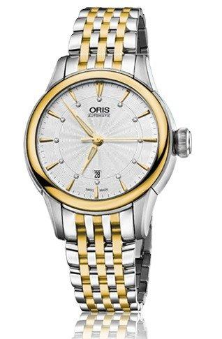 Oris Artelier Date Silver Dial Two-Tone Stainless Steel Ladies Watch 01 561 7687 4351-07 8 14 78