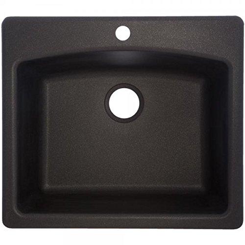 Franke Consumer Products ESOX25229-1 Dual Mount Composite Granite Single...
