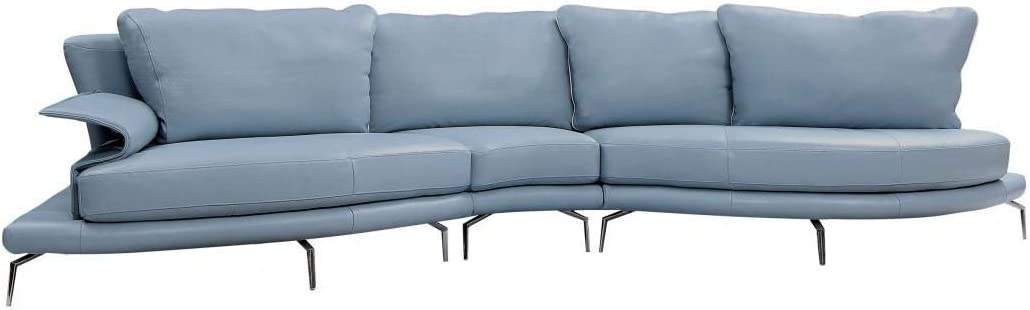 Luxury Blue /& White Sectional Sofa Soflex Divani Casa Andover Contemporary