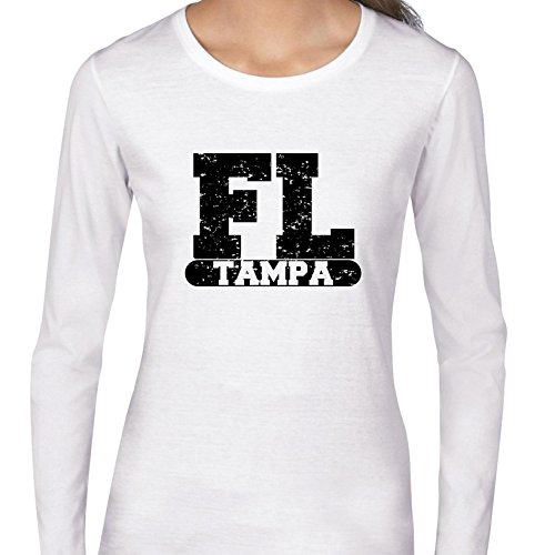 Tampa, Florida FL Classic City State Sign Women's Long Sleeve T-Shirt