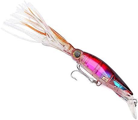 HoSayLike se/ñuelos Pesca mar cebos Artificiales se/ñuelos Artificiales 1PC se/ñuelos de Pesca 14cm pl/ástico Duro cebos Bajos 6 Colores Minnow se/ñuelos