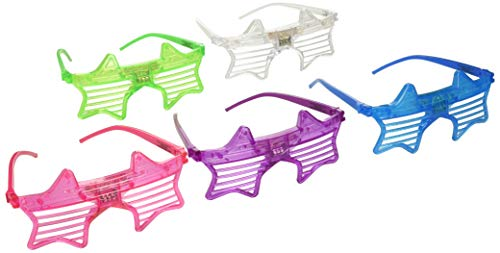 Party Favors Rave 12ct LED Light Up Sunglasses - Assorted Flashing Lights (Star) -