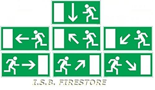 Rettungsschild Fluchtweg Notausgang Schild Folie/nachleuchtend und selbstklebend B GV 8A PFEIL nach LINKS