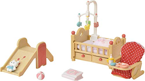 Calico Critters Baby Nursery Set with Cuddle Bear Family Doll
