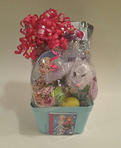 HAPPY FROZEN GIFT BASKET FOR TODDLERS GIRLS PERFECT FOR EASTER, BIRTHAY, GETWELL, PARTIES, ALL OCASSIONS (Kids Gift Easter Baskets)