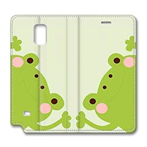 Samsung Note 4 Case, Note 4 Cover - Green Frog Brain114 Samsung Note 4 Premium Leather Case