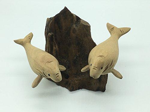 seven-one-thai-teptaro-sacred-wood-carved-dugong-thai-animal-handicraft-pen-holder-souvenir-b