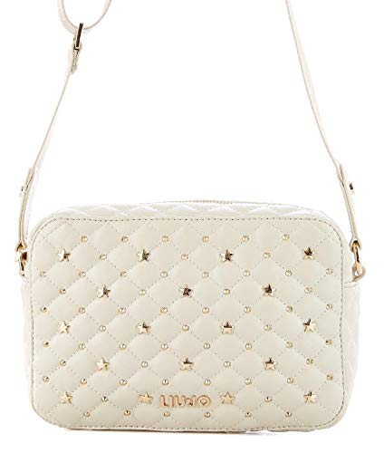 Liu Jo Women s A19079e000221404 White Leather Shoulder Bag cd7f70cecef