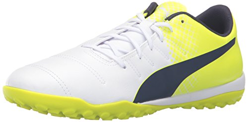 PUMA Men's Evopower 4.3 Tricks TT Soccer Shoe, White/Peacoat/S, 10 M US