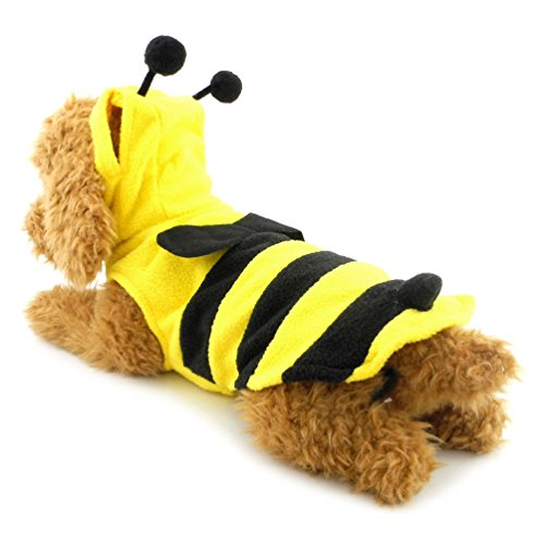 (SMALLLEE_LUCKY_STORE Bee Vest Costume, Large, Yellow)