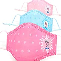 The hero Kid Frozen Girls Mask Dust proof 100% special filter washable & comfortable, cotton fabric,3-8 Years Old (color…