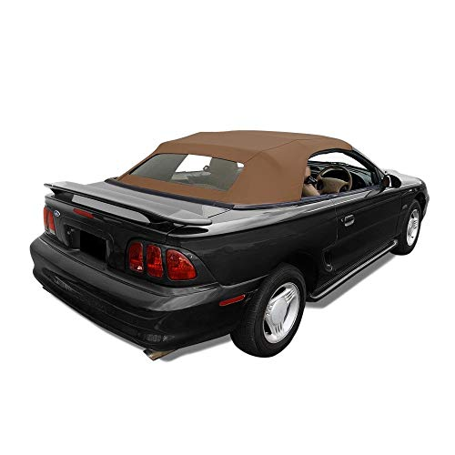 Ford Mustang Convertible Soft Top with Heated Glass Window Saddle Sailcloth - For Tops Cars Convertible