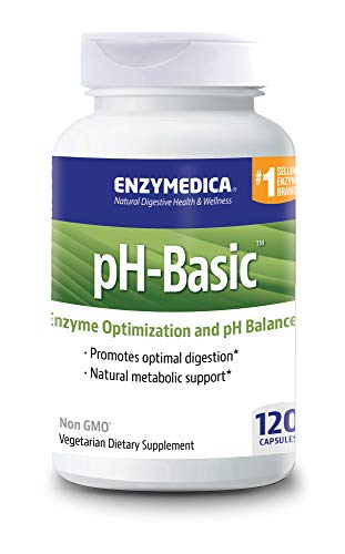 Basic Balance - Enzymedica, pH-Basic, Promotes Healthy Digestion and pH Balance with Digestive Enzymes, Vegetarian, Non-GMO, 120 Capsules (120 Servings) (FFP)