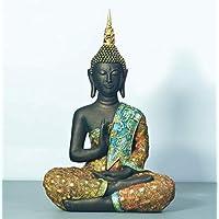 KOONNG Ornamenti di Cristallo Scultura Decorazione Giraffesmall Statua di Buddha Monk Figurine Tathagata India Yoga Mandala Sculture Artigianato in Resina Decorazione della casa Accessori Ornamenti