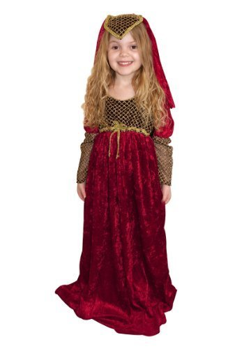 Girls Fancy Dress Costume Juliet Large Red Medieval Middle Ages by fancy dress warehouse (Middle Ages Costumes)