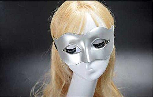 Mardi Gras Party Masquerade Mask,Men Masks Halloween Costumes Dances Masks Ladies Solid Color Minimalist Half face Zorro Half face mask Silver Prom -