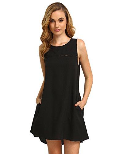 ROMWE Women's Summer Casual Sleeveless C - Sleeveless Keyhole Dress Shopping Results