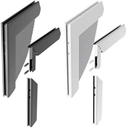 Windhager Z8 Juego de Conectores angulares de Aluminio para Puertas y Ventanas con armazón de Rame, Plateado, 0,68 x 6 x 6 cm, 03538