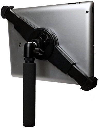 iShot G10 Pro Universal iPad Tablet Tripod Mount Holder + Tripod Adapter with 360° Locking Mini Ball Head Adjustable for All 7