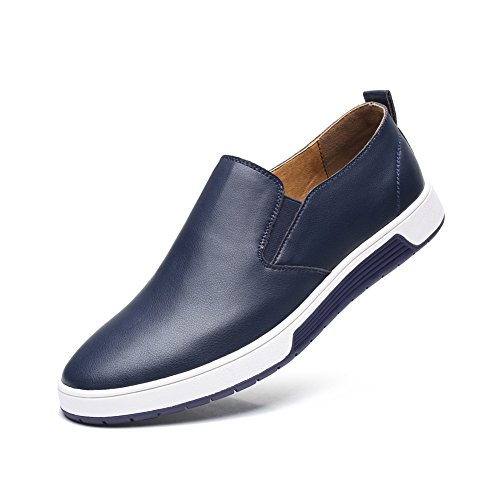 QCO Men's Comfortable Classic Modern Formal Business Shoes Blue 9.5 ()