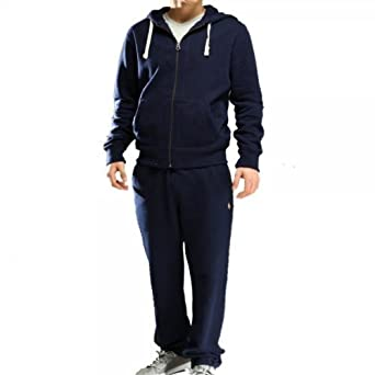 0bd9f1eea01e New Mens Polo Ralph Lauren Men s Fleece hooded tracksuit Top and Bottom - S  M L XL  Amazon.co.uk  Clothing