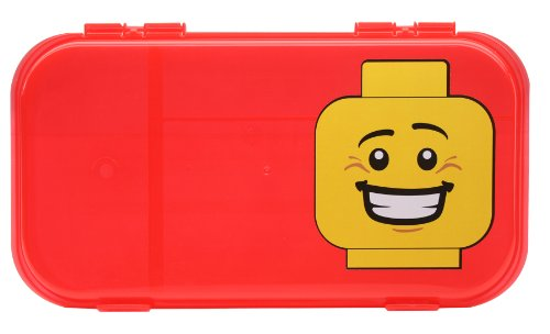 Free IRIS LEGO Minifigure and Brick Storage Case, Red