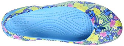 Crocs Olivia Ii Graphic, Bailarinas con Punta Cerrada para Mujer Blu (Blue/Floral)
