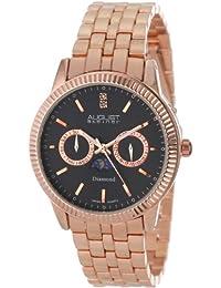 August Steiner Men's AS8050RG Swiss Quartz Multi-Function Diamond Bracelet Watch