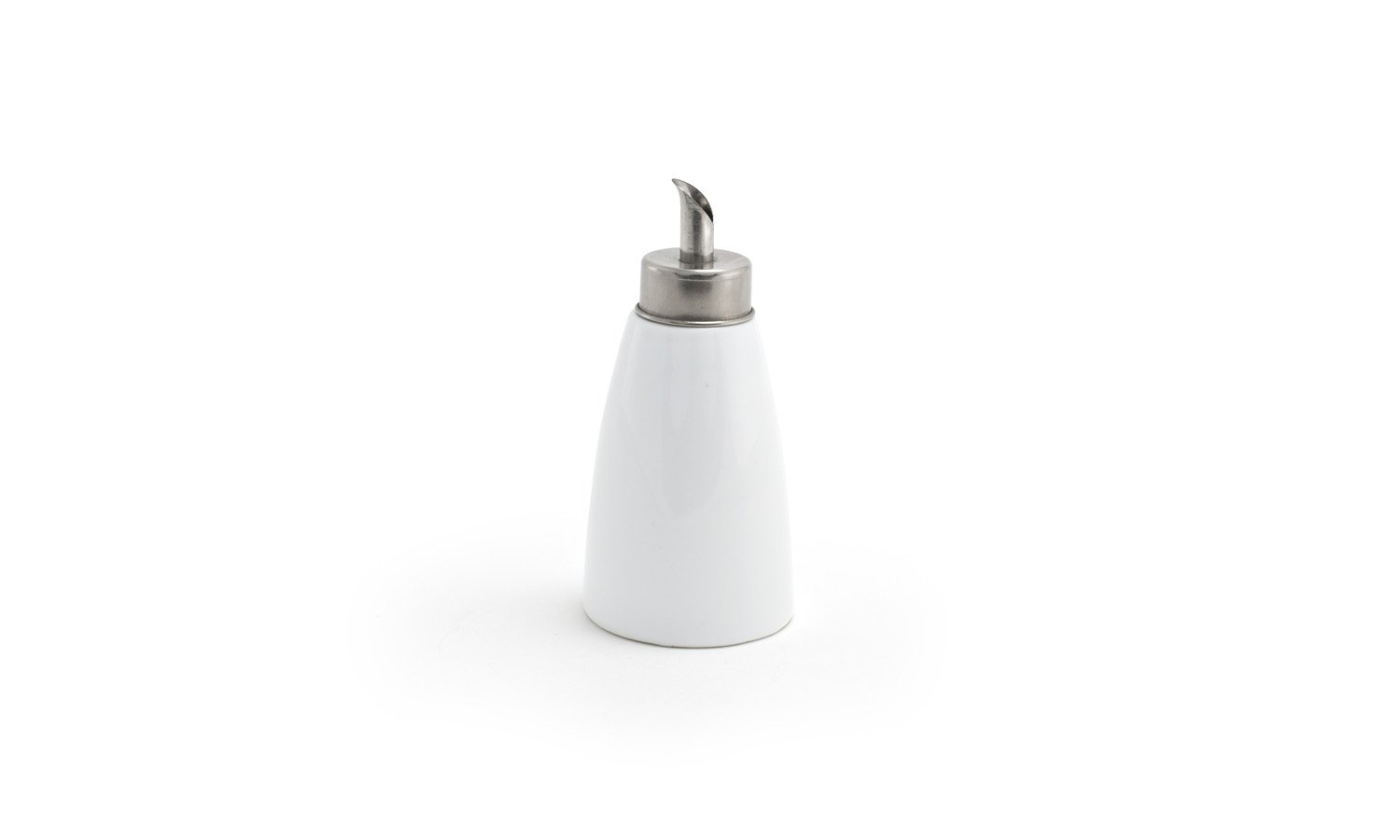 Front of the House TSH003WHP23 Sugar Pourer with Spout, 5'' Height, 2.25'' Diameter, 4 oz, Porcelain, White (Pack of 12)