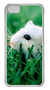 Customized Case White mice PC Transparent for Apple iPhone 5C