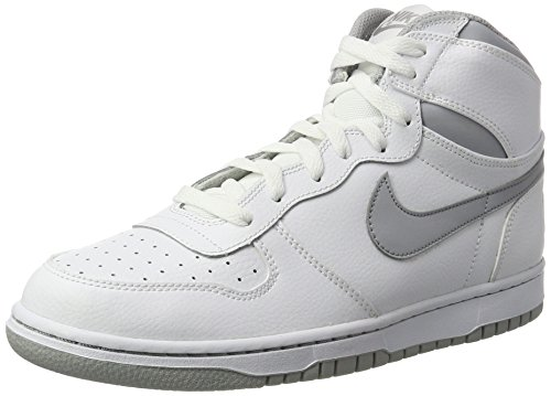 Nike Mens Big High Basketball Shoe White/Wolf Grey 10