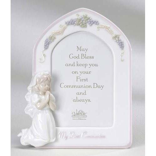 Roman Inc. Valencia Communion Girl Frame - Holy Gift Inspirational Catholic 46229 -