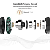 Wireless Earbuds, iyesku YK-T02 Latest Bluetooth 5.0 True Wireless Bluetooth Earbuds 12H Playtime 3D Stereo Sound Wireless Headphones, Built-in Dual Microphone Call by iyesku