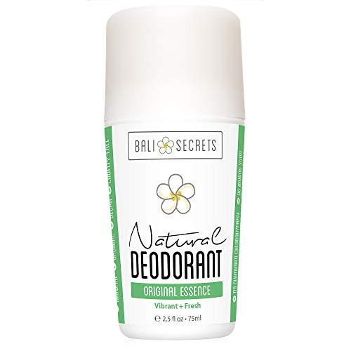 Bali Secrets Natural Deodorant - Organic & Vegan - For Women & Men - All Day Fresh - Strong & Reliable Protection - 2.5 fl.oz/75ml [Scent: Original Essence]