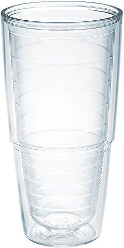 Tervis 1001839 Clear & Colorful Insulated Tumbler, 24oz