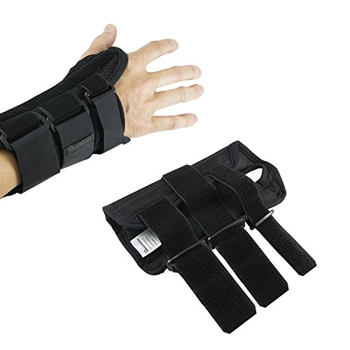 Wrist Brace Pair, Two (2), Small/Medium, Carpal Tunnel, Right and Left Carpel Wrist Support, Forearm Splint Band, 3 Straps Adjustable, Breathable for Sports, Sprains, Arthritis and ()
