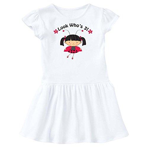 inktastic - 3rd Birthday Ladybug 3 Year Old Girl Toddler Dress 3T White c4bc]()