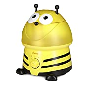 Crane USA Filter-Free Cool Mist Humidifiers for Kids, Bumble Bee