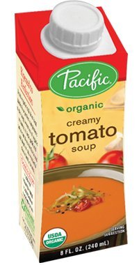 Pacific Foods Organic Creamy Tomato Soup, 8-Ounce Cartons, 12-Pack ()