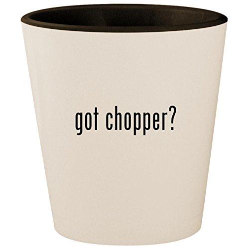 got chopper? - White Outer & Black Inner Ceramic 1.5oz Shot Glass