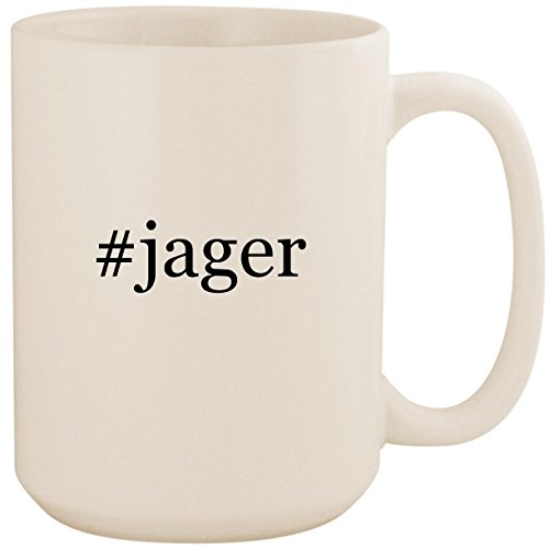 #jager - White Hashtag 15oz Ceramic Coffee Mug Cup