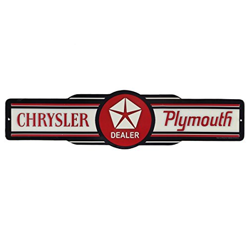 Open Road Brands Chrysler Plymouth Embossed Tin Sign