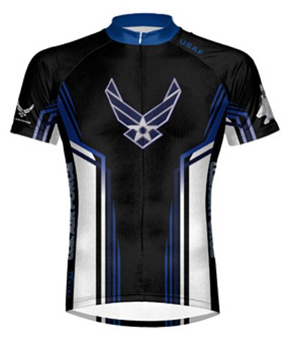 Primal Wear Air Force USAF Team Cycling Jersey Men's Short Sleeve - Primal Bike Wear