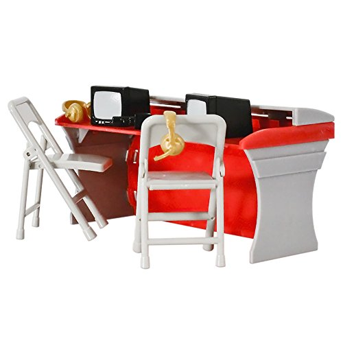 Red Commentator Table Playset For WWE Wrestling Action Figures by Figures Toy Company
