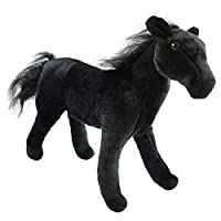 Houwsbaby Realistic Horse Plush Toy Wildlife Stallion Stuffed Animal Steed Thoroughbred Gifts for Kids Friends Toys Collection, 15