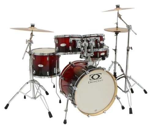 Drum Craft DC805043 Series 5 Jazz Drum Set - Crimson Fade by Drum Craft