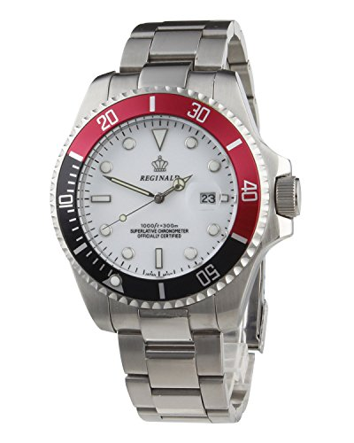 Fanmis White Dial Rotatable Bezel Luminous Hand Quartz Men's Ladies Silver Stainless Steel Watches ()