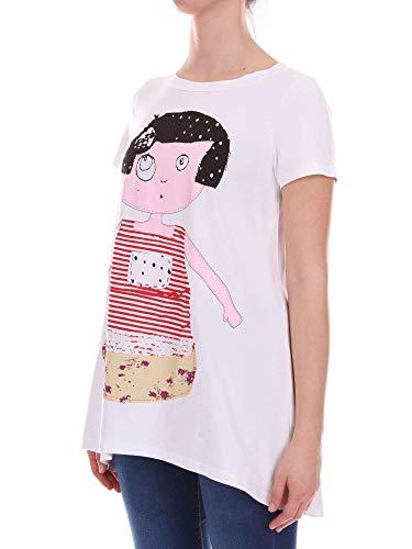 Pois A Blanco Mujer Egeriabianco Algodon Rosè shirt T 6awq7