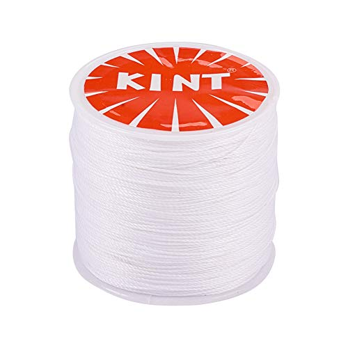 - PandaHall Elite 1 Roll 0.5mm Round Waxed Cotton Cord Thread Beading String 116 Yards per Roll Spool for Jewelry Making and Macrame Supplies White