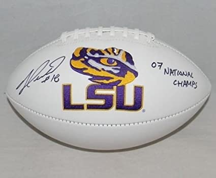 Jacob Hester Autographed Lsu Tigers Logo Football JSA